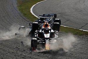 Drie plaatsen gridstraf voor Verstappen na clash met Hamilton