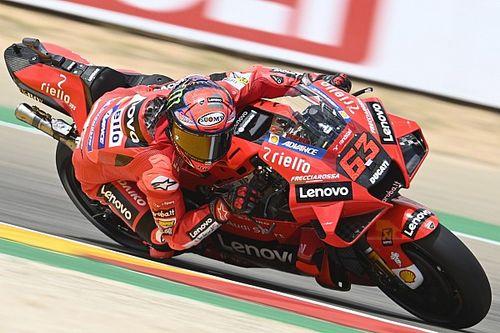 Qualifs - Bagnaia premier d'un doublé Ducati, Quartararo troisième