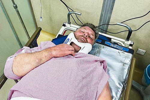 Kolomý złamał kręgosłup
