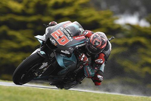 "Quartararo ""lucky"" not to break anything in FP1 crash"