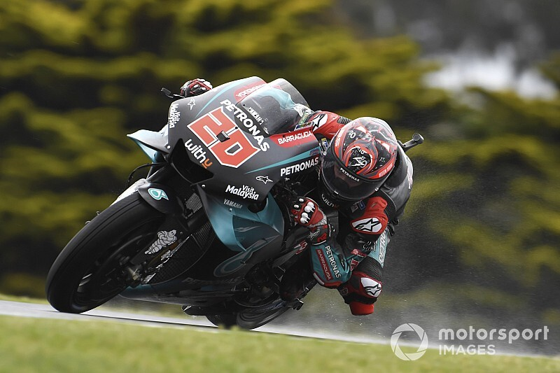 "Quartararo ""lucky"" not to break anything in FP1 crash"