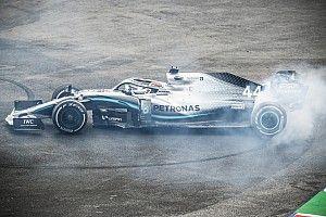 Hamilton a souffert au volant d'une Mercedes endommagée