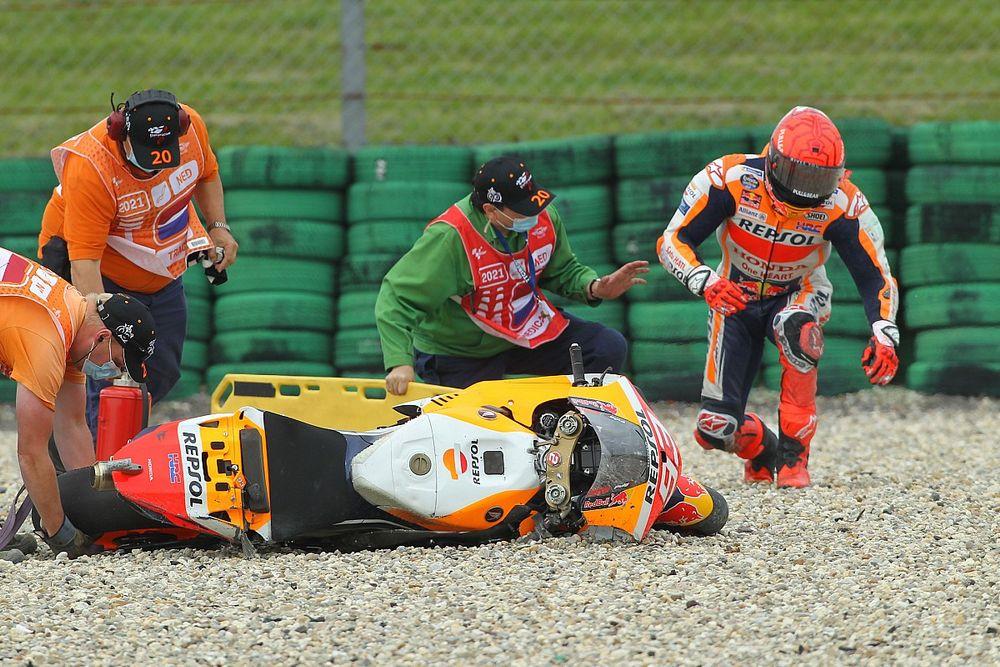 Honda: Marquez a pénteki esésével dobta el a dobogós esélyeit