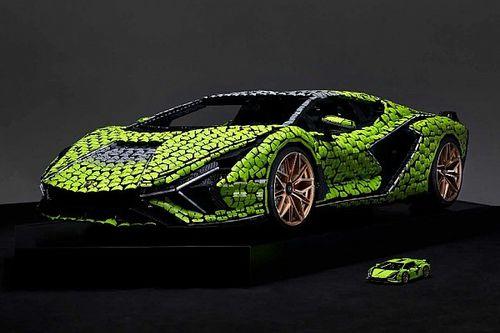 Két tonnás, életnagyságú Lamborghini Sian LEGO-modellt mutattak be
