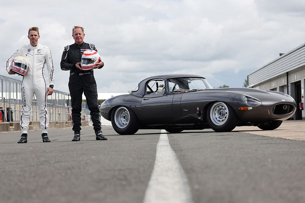 Martin and Alex Brundle team up for E-type race at The Classic at Silverstone