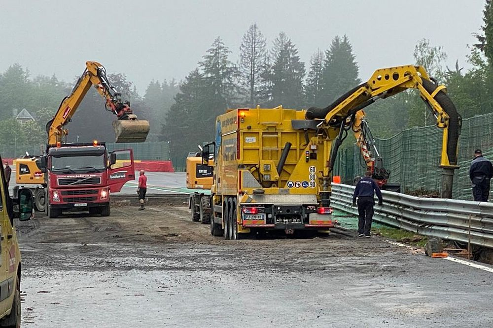 Spa circuit damaged after being hit by heavy floods