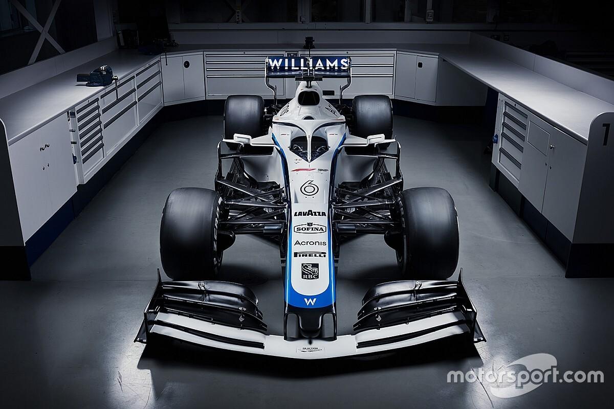 Felülnézetből is a Williams új F1-es festése: nehéz betelni vele