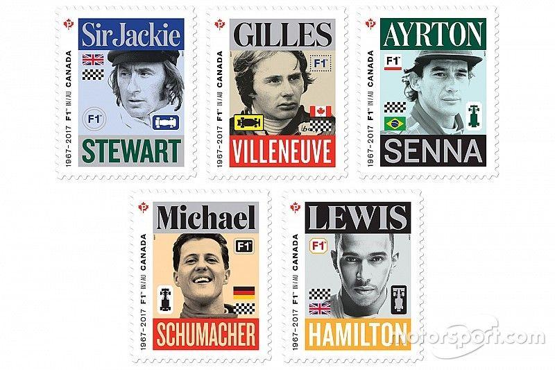 Canada Post honours five Formula 1 legends