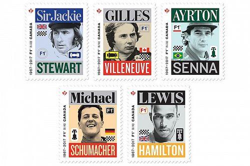 Canadá homenajea con sellos a cinco pilotos que han hecho historia en la F1