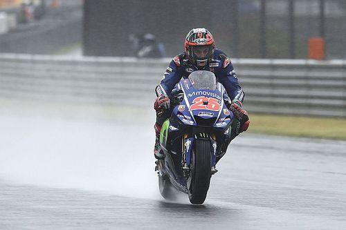 Yamaha piorou em pista molhada, diz Viñales
