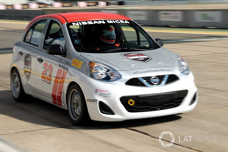 Track testing the Nissan Micra Cup car