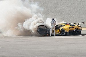 Fassler escapes unhurt after Corvette fire at Daytona