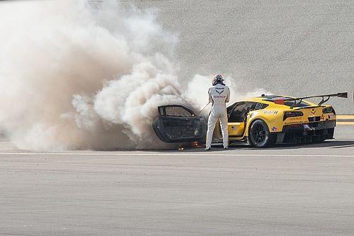 Fassler escapes unhurt after Corvette fire at Daytona