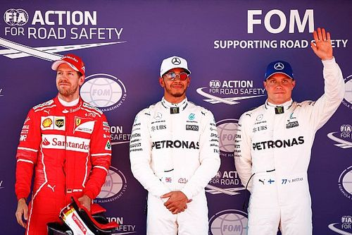 Hamilton verslaat Vettel in strijd om Spaanse pole, Verstappen vijfde