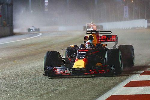 Red Bull was bang dat Ricciardo de finish niet zou halen