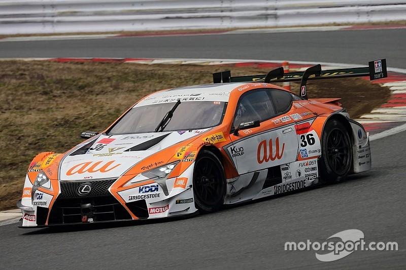 【スーパーGT】富士テスト初日:GT500はレクサス上位独占。36号車首位