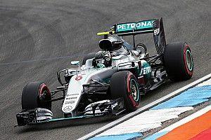German GP: Rosberg leads Mercedes 1-2 in FP1