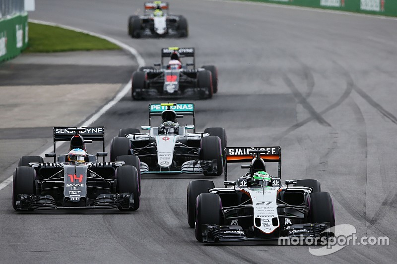 Force India drivers stymied by colder conditions in Canada