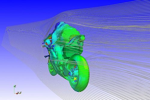 Ducati usa manequins para testar aerodinâmica em túnel de vento