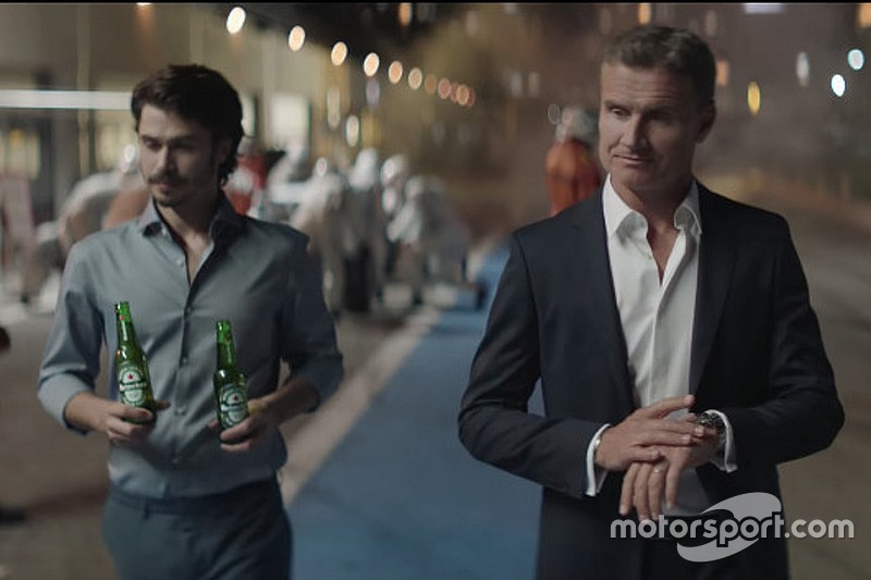 Heineken zet 'More Than A Race'-commercial met Coulthard online