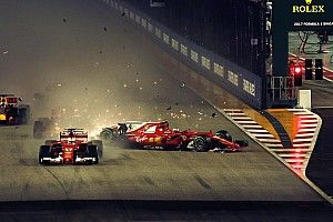 Alami insiden selepas start, Verstappen salahkan Vettel