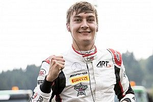 Spa GP3: Russell grabs pole on drying track