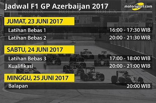 Jadwal lengkap F1 GP Azerbaijan 2017