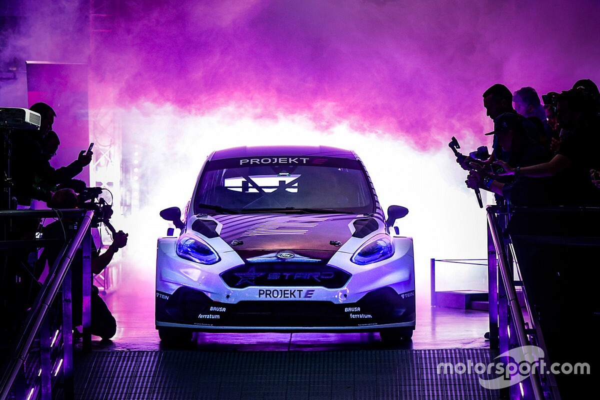 All-electric Projekt E rallycross car unveiled