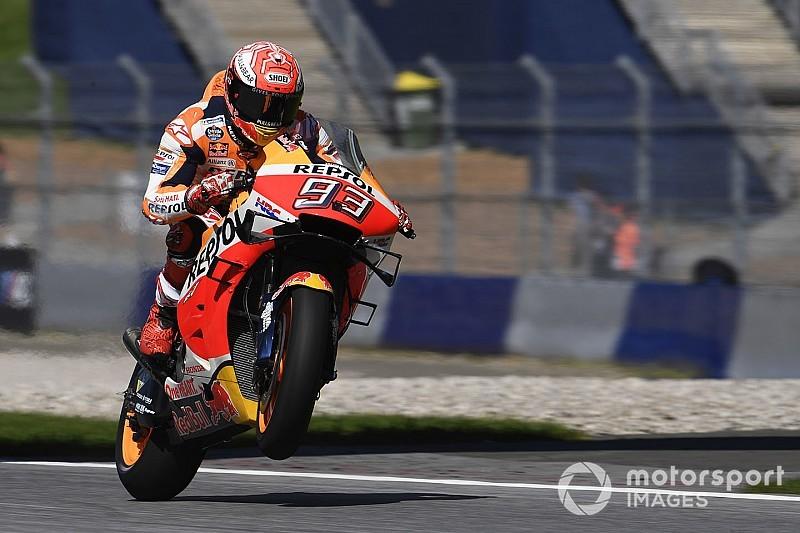 MotoGP, Red Bull Ring, Libere 2: Marquez risponde, Dovizioso cade