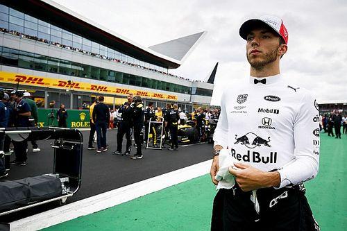 """ريد بُل: غاسلي كان سائقاً """"آخر"""" خلال سباق جائزة بريطانيا الكبرى"""