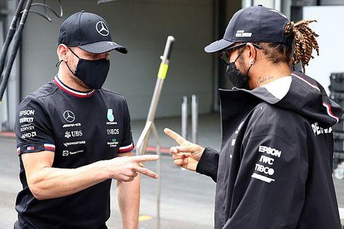 Hamilton en Bottas ruilen van Formule 1-chassis voor Franse GP