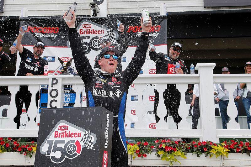 John Hunter Nemechek tops Busch for Pocono Truck win