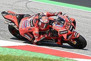 MotoGP, Austria, Libere 3: zampata Ducati con Bagnaia