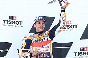 Marc Marquez Berikan Trofi MotoGP Aragon untuk Keluarga Hugo Millan