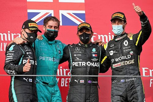 Hamilton doblega a Bottas en un GP de Emilia Romagna trepidante