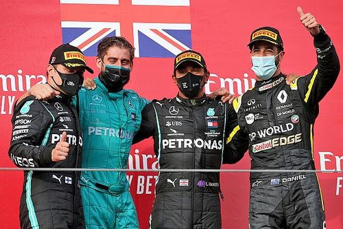 Emilia Romagna GP: Hamilton wins as Mercedes secures title