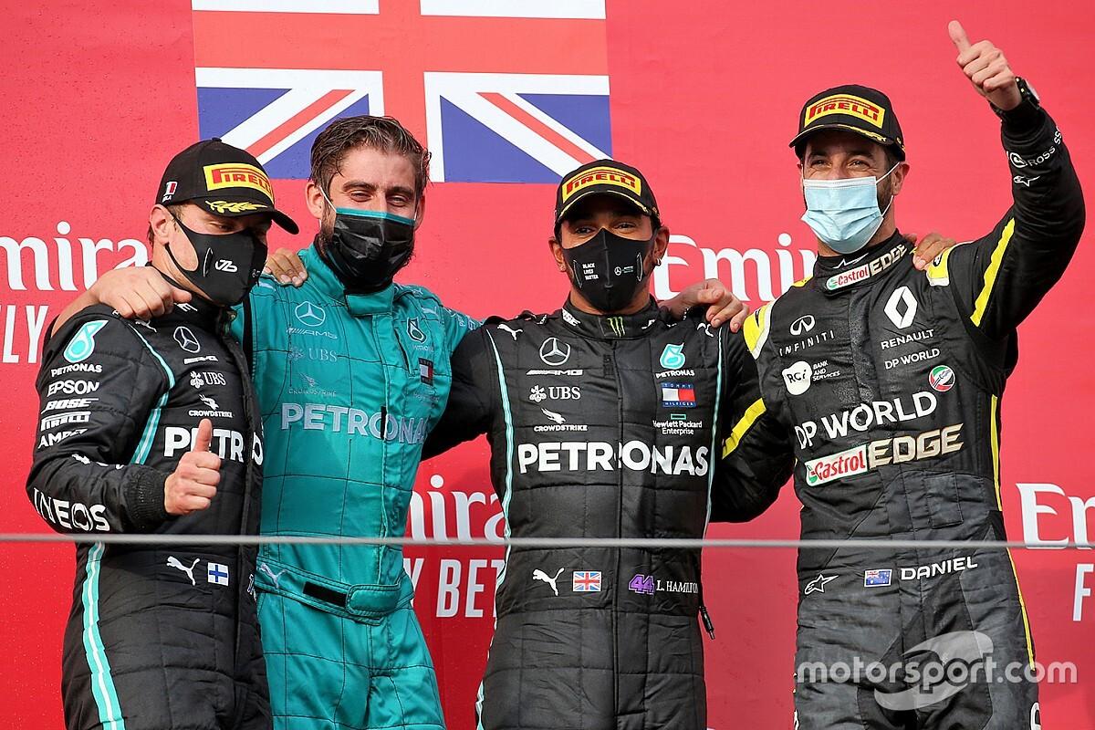 Emilia Romagna GP: Hamilton wins as Mercedes secures title