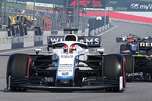Russell gana el GP de Gran Bretaña Virtual tras una sanción a Albon