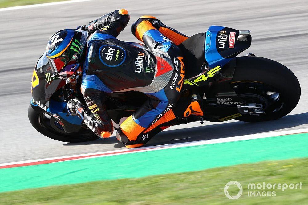 VÍDEO: Líder da Moto2, irmão de Rossi 'sai voando' em acidente em Le Mans