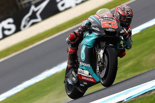 Quartararo to sit out FP2 after heavy crash