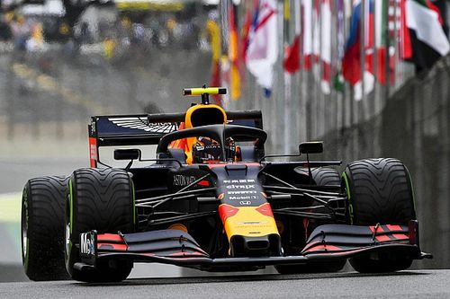 Brazilian GP: Albon goes quickest, then crashes in wet FP1