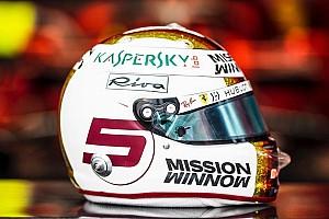 Vettel különleges sisakfestése a Brazil Nagydíjon