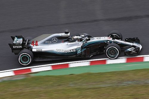 Japanese GP: Hamilton leads dominant Mercedes one-two in FP1