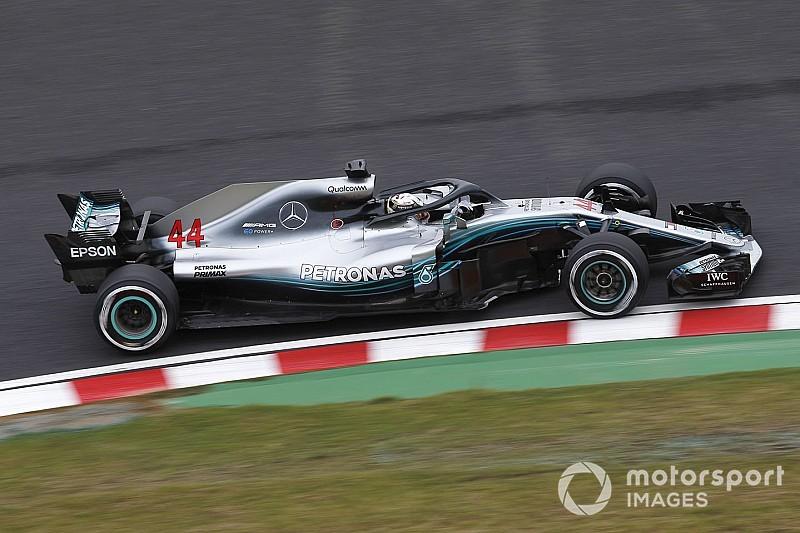 Hamilton voert de boventoon in eerste training Japan, Verstappen op P6