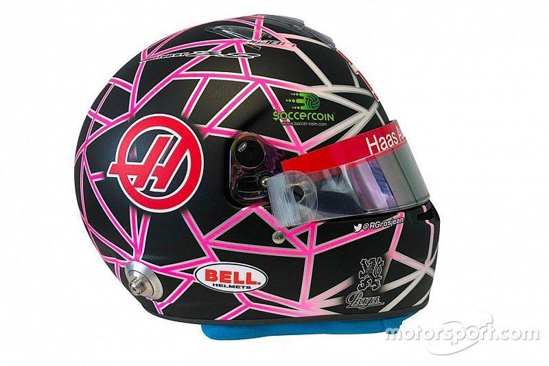 Un casque spécial pour Grosjean au GP de France