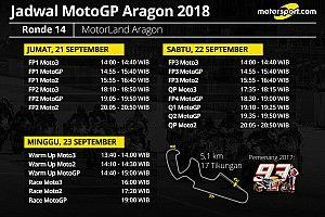 Jadwal lengkap MotoGP Aragon 2018