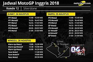 Jadwal lengkap MotoGP Inggris 2018