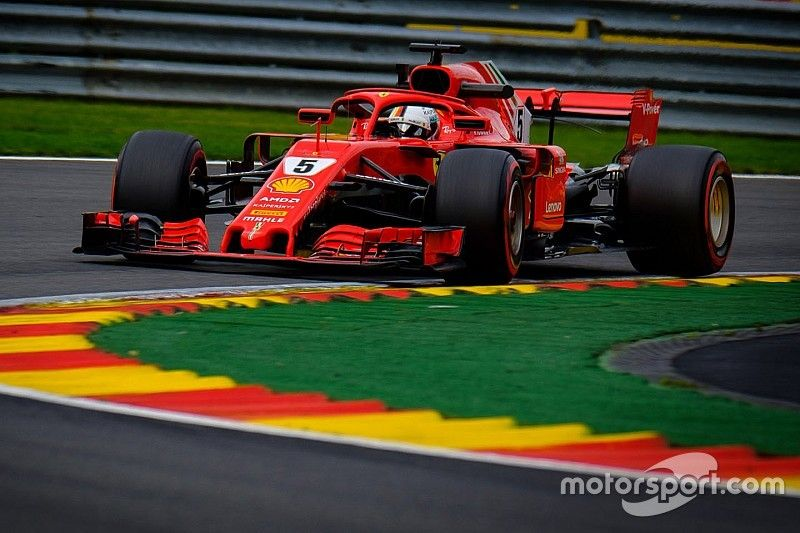 Belgian GP: Vettel leads Ferrari 1-2 in final practice