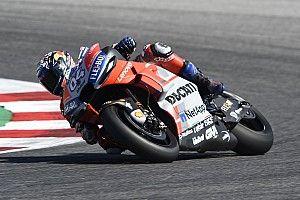 Aragon, Libere 1: Dovizioso guida un grande poker Ducati, Rossi è settimo