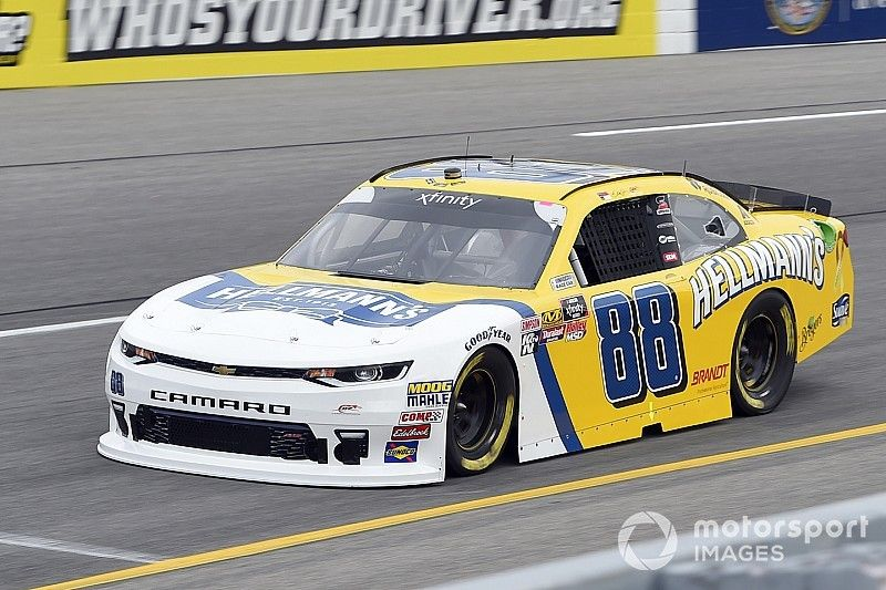 """Dale Jr. """"got bored"""", almost missed Xfinity practice on comeback"""